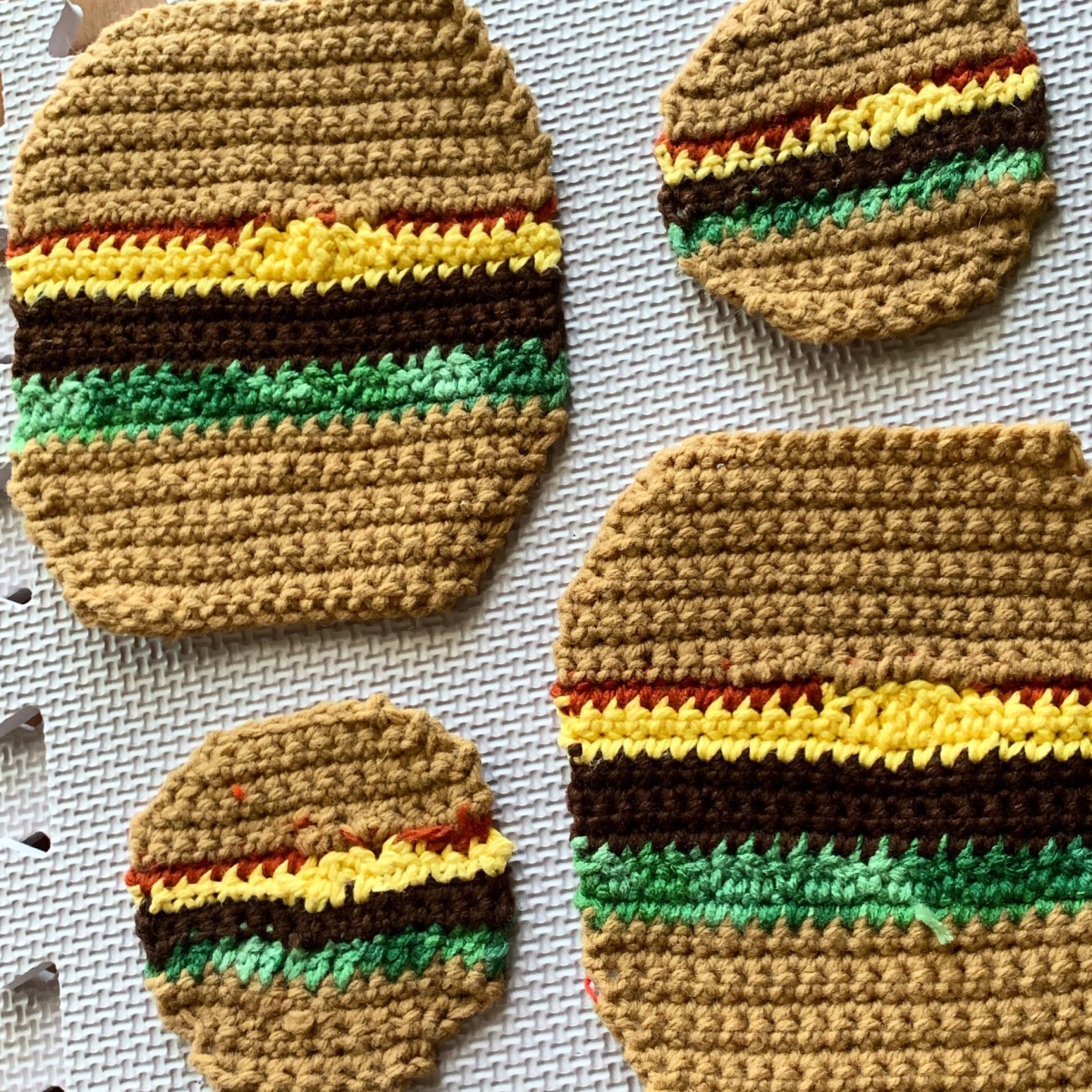 Crochet Project: Cheeseburgers